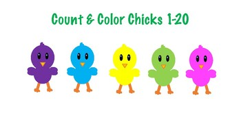Spring / Easter Count & Color 1-20
