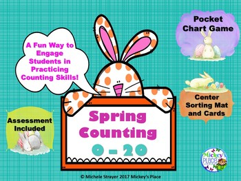 Spring / Easter Counting 0 - 20 Math Centers