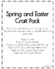 Spring & Easter Craft Pack: Bunny, Chick & Egg Name, Bunny Belly Shapes, Flower