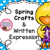 #spedspringsahead Spring Easter Crafts and Written Expression