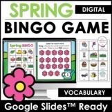 Spring - Easter Digital BINGO Game - Vocabulary Building -