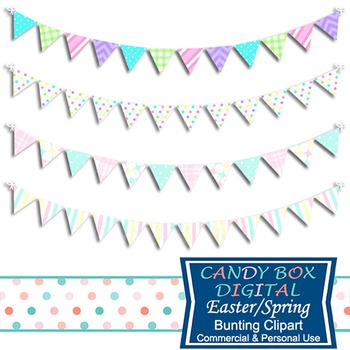 Spring, Easter Digital Bunting Clip Art