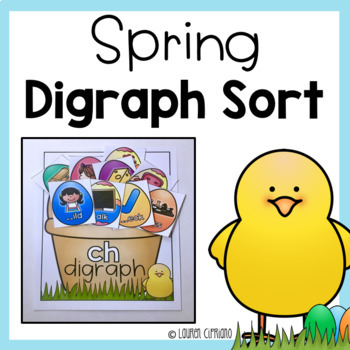 Spring Easter Digraph Sort ch sh th wh