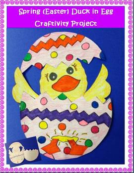 Spring (Easter) Duck in Egg Craftivity Project