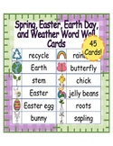 Spring, Easter, Earth Day, and Weather Word Cards ~ 45 Cards