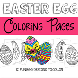 Spring Easter Egg Coloring Pages