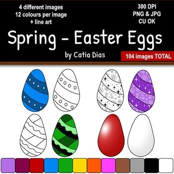 Spring - Easter Eggs Clip Art