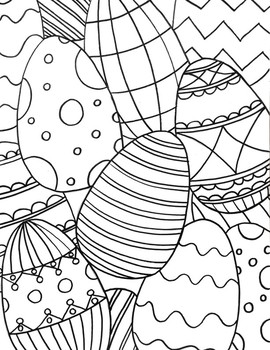 Spring Easter Eggs Coloring Sheet