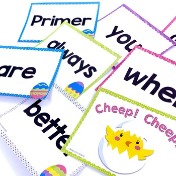 Spring Easter Eggs Sight Words Game and Flash Cards (April)