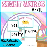 Spring Easter Eggs Sight Word Game and Flash Cards | April