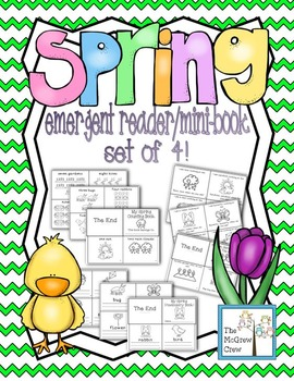 Spring Easter Emergent Reader Mini-Book Set of 4!