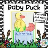 Farm Baby Duck Craft, Class Book & Writing Activities