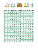 Spring Easter Kindergarten Alphabet Circle Upper Case Letter Recognition Reading