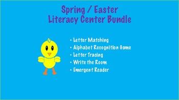 Spring / Easter Literacy Center Bundle