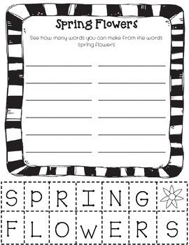 Spring/ Easter Literacy Freebie