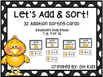 Spring Easter Math Center Cards