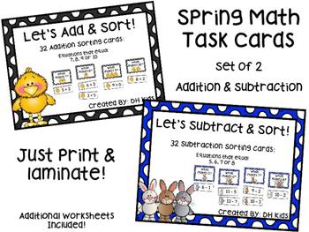 Spring Easter Math Center Cards