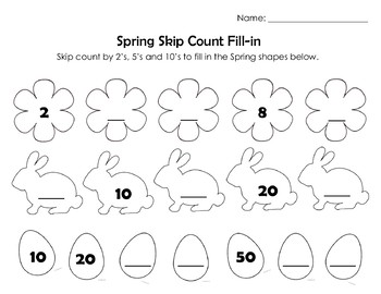 Spring Easter Math & Language Arts Worksheet Set