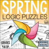 Spring & Easter Math Logic Puzzles: Enrichment for Distance Learning