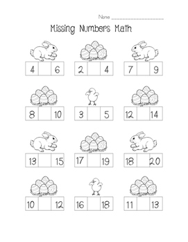Spring Easter Math - Missing Numbers