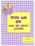 Spring Easter Mini Unit - Math and Literacy Activities