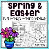 Spring Easter NO PREP Printables - Kindergarten and PreK