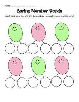 Spring/Easter Number Bond Activity