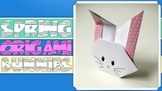 Spring / Easter Origami Bunnies Lesson EASY PRINTABLE INSTRUCTIONS