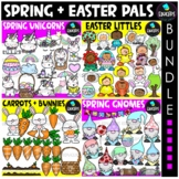 Spring & Easter Pals Clip Art Bundle {Educlips Clipart}