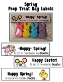 Spring/Easter Peep Treat Bag Labels
