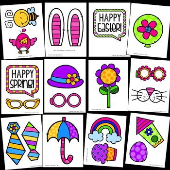 Spring/Easter Photo Booth Props {Made by Creative Clips Clipart}