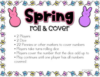 Spring {Easter} Roll and Cover Math Game FREEBIE