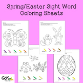 Spring/Easter Sight Word Coloring Sheets