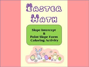 Spring / Easter :  Slope Intercept & Point-Slope Forms