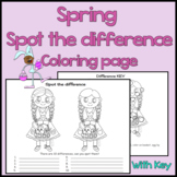 Spring / Easter Spot the Difference Coloring Page  - Visua