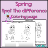 Spring / Easter - Spot the Difference Coloring Page - Visu