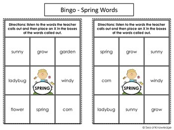Spring, Easter & St. Patrick's Day Vocabulary Activity Unit
