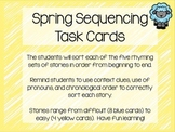 Spring Easter Story Sequence Task Cards
