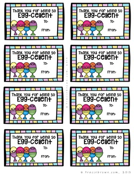 Spring & Easter Themed Appreciation Gift Tags
