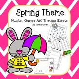 Preschool - Kindergarten Math Games and Tracing Activities for Spring and Easter