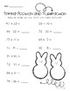 Spring / Easter: Two Digit Addition and Subtraction Practice Worksheets