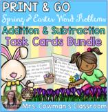 Spring & Easter Word Problem Task Cards: BUNDLE
