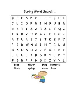 Spring & Easter Word Searches!