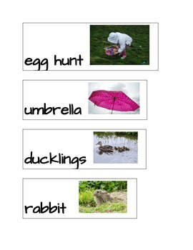 Spring, Easter Word Wall Words