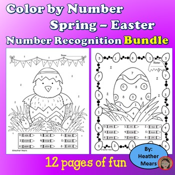 Easter Coloring By Number Teaching Resources | Teachers Pay Teachers
