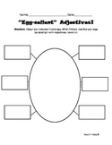 Spring /Easter egg Adjectives Worksheet