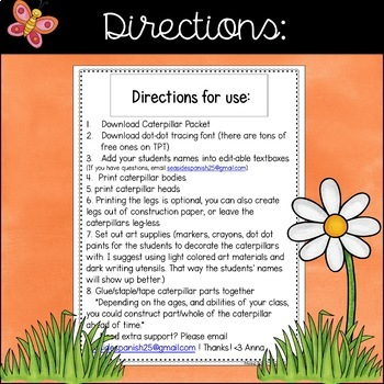 Spring Editable Name Writing Practice