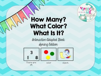 How Many, What Color, What Is It, Interactive Book