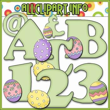 Spring Egg Lettering Delights Alphas - Cheryl Seslar Clip Art