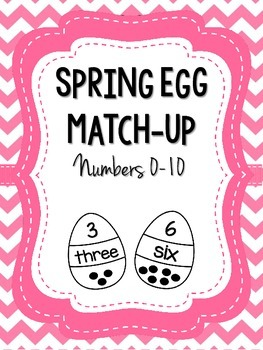 Spring Egg Match-Up Numbers 0-10